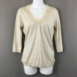 Ann Taylor Loft Sweater Lightweight 3/4 Sleeve XS